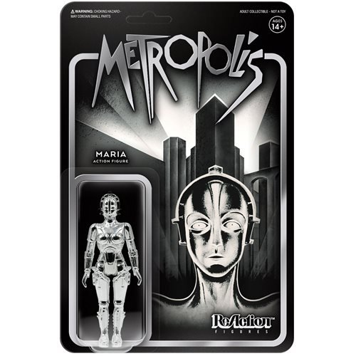Metropolis Silver Maria 3 3/4-Inch ReAction Figure