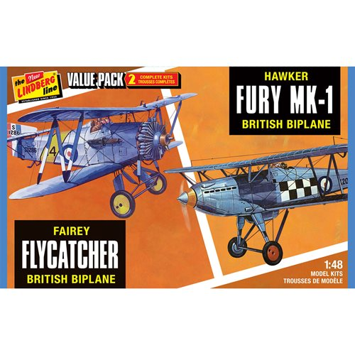 Fairey Flycatcher and Hawker Fury 2-Pack 1:48 Scale Model Kit