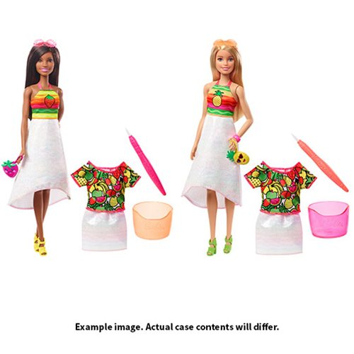 Barbie Crayola Rainbow Fruit Surprise Doll Case