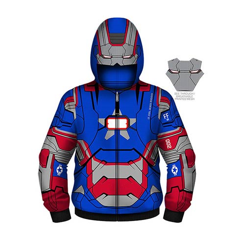 Iron Man 3 Iron Patriot Juvy Costume Zip-Up Hoodie