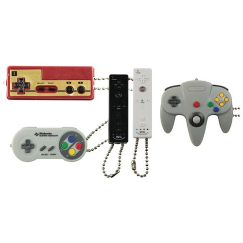 f5e1f0c6f18d Nintendo Controller Danglers Key Chain Random 6-Pack ...