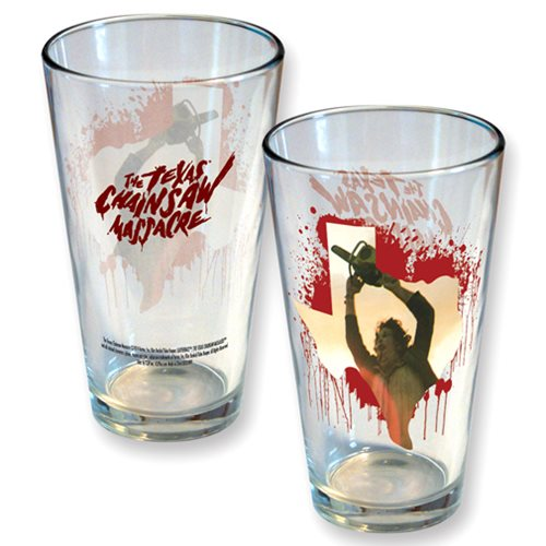 Texas Chainsaw Massacre Texas Splatter Pint Glass