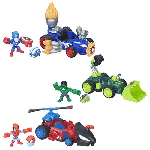 Marvel Super Hero Mashers Micro Vehicles Wave 1 Case