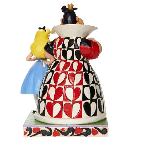 Disney Traditions Alice in Wonderland Alice and Queen of Hearts Chaos and Curiosity by Jim Shore Sta