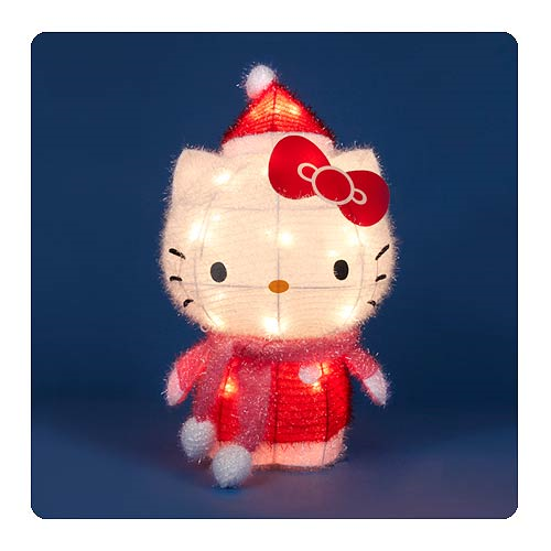 Hello Kitty 28-Inch String of 3-D Soft Holiday Tinsel Lights