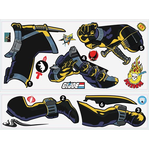 G.I. Joe Retro Snake Eyes Peel and Stick Giant Wall Decals