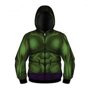 The Hulk Sublimated Costume Fleece Zip-Up Hoodie