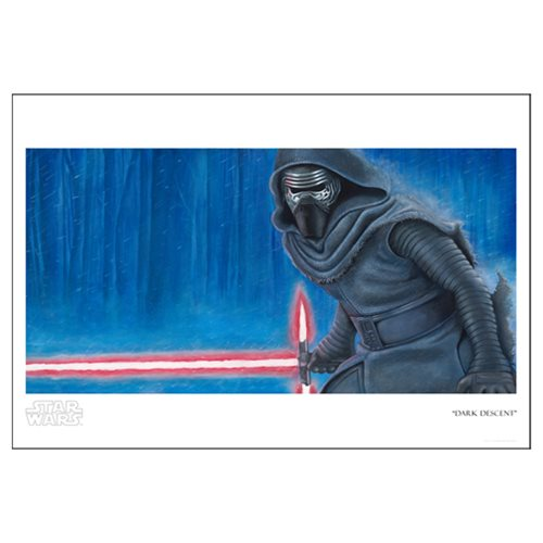 Star Wars: The Force Awakens Dark Descent Paper Giclee Print