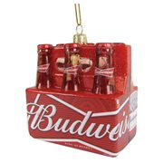 Budweiser Glass Bottle 6-Pack 3 1/2-Inch Ornament