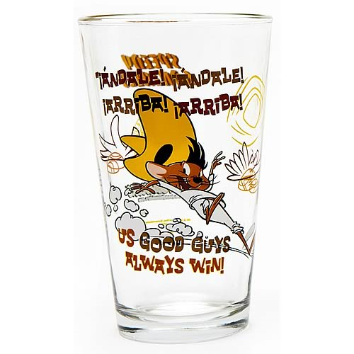 Looney Tunes Speedy Gonzalez Toon Tumbler Pint Glass