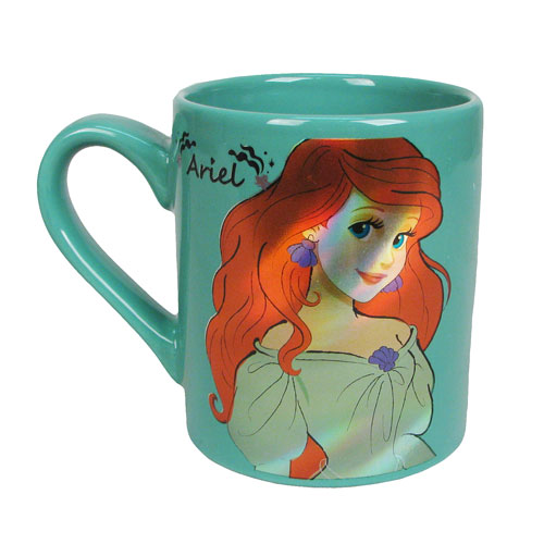 The Little Mermaid Ariel Green 14 oz. Ceramic Laser Print Mug