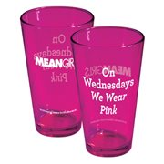 Mean Girls On Wednesdays We Wear Pink Pint Glass