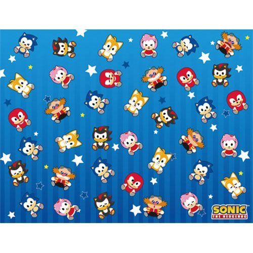 Sonic the Hedgehog SD Group Sublimation Throw Blanket