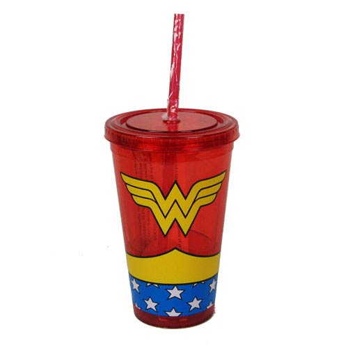 Wonder Woman Uniform 16 oz. Plastic Travel Cup