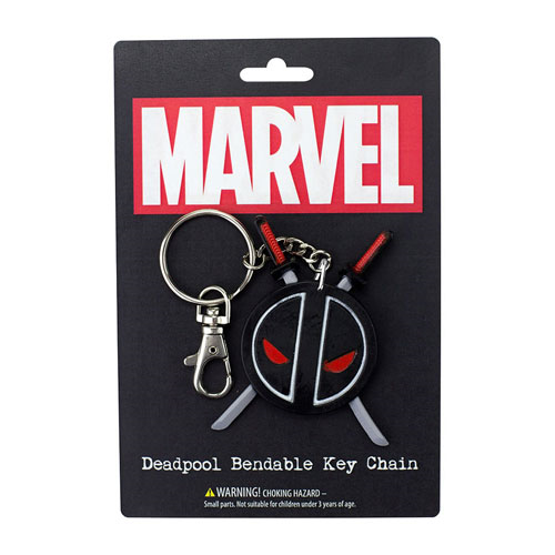Deadpool Logo 3-Inch Bendable Key Chain