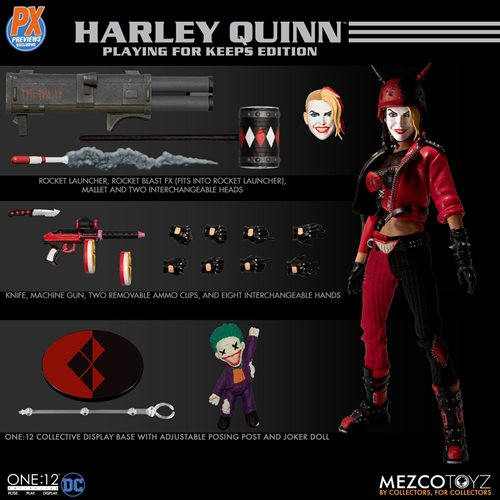DC Harley Quinnn Playing for Keeps Edition One:12 Collective Action Figure - PX