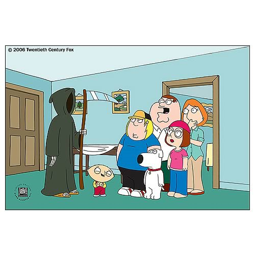 Family Guy Death Is A Bitch Hand-Painted LE Art
