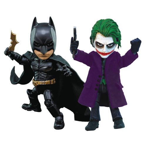 Batman: The Dark Knight Batman and Joker Hybrid Metal Figuration Action Figure Set