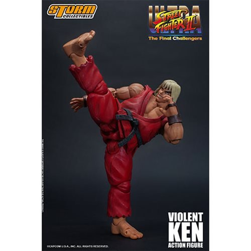 Ultra Street Fighter II: The Final Challengers Violent Ken 1:12 Scale Action Figure
