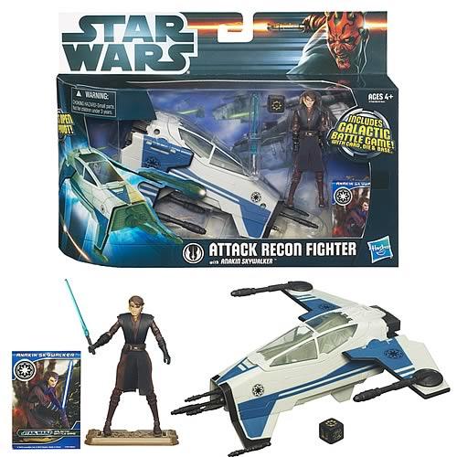 Star Wars Movie Heroes Anakin Skywalker /& Attack Recon Fighter
