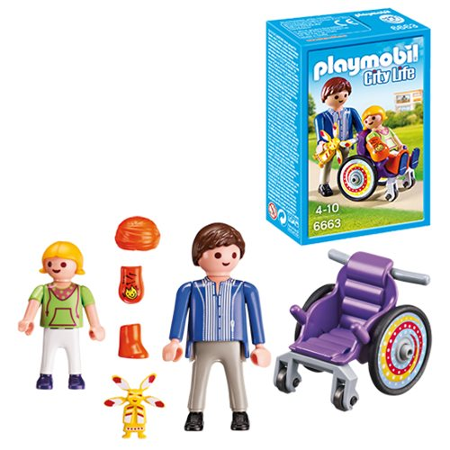 Playmobil 6663 Child in Wheelchair Action Figures