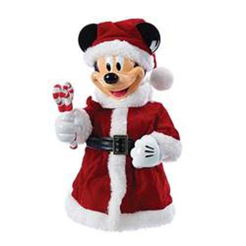 Santa Mickey Mouse with Bendable Arms 10-Inch Tabletop Piece Statue