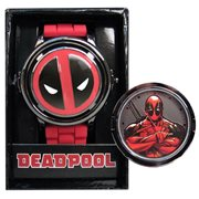 Deadpool Logo Spinner Red Strap Watch