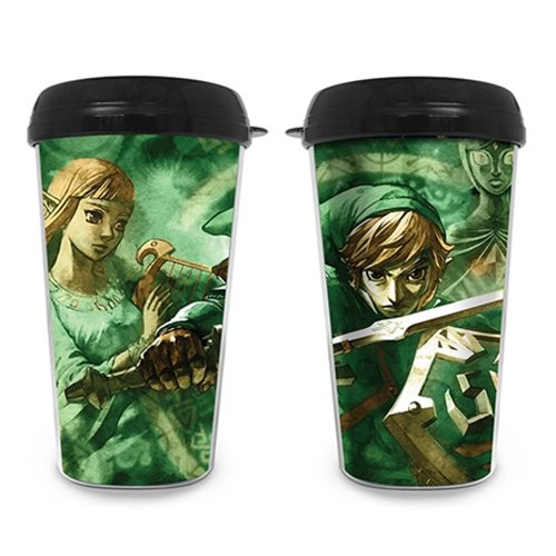 The Legend of Zelda Link and Zelda Travel Mug