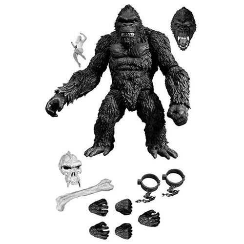 King Kong of Skull Island 7-Inch Black and White Version Action Figure - Previews Exclusive
