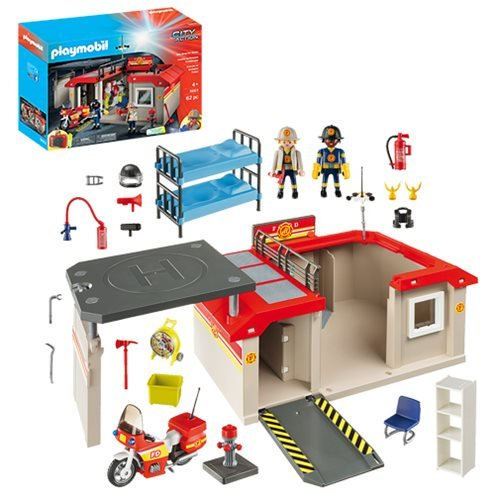 Playmobil 5663 Take Along Fire Station Playset