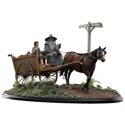 Lord of the Rings: The Fellowship of the Ring Gandalf and Frodo on Cart Masters Collection Statue