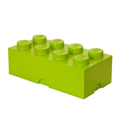 LEGO Lime Green Storage Brick 8