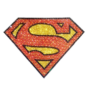 Superman Logo Crystal Studded Large Decal