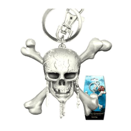Pirates of The Caribbean Skull  Pewter Key Chain