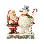 Frosty the Snowman and Santa with Candy Cane Friends Through All Seasons by Jim Shore Statue