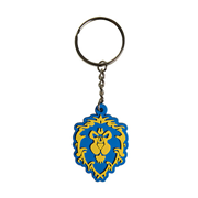 World of Warcraft Alliance Logo Rubber Key Chain