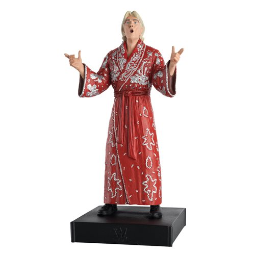 WWE Championship Collection Ric Flair Figure with Collector Magazine