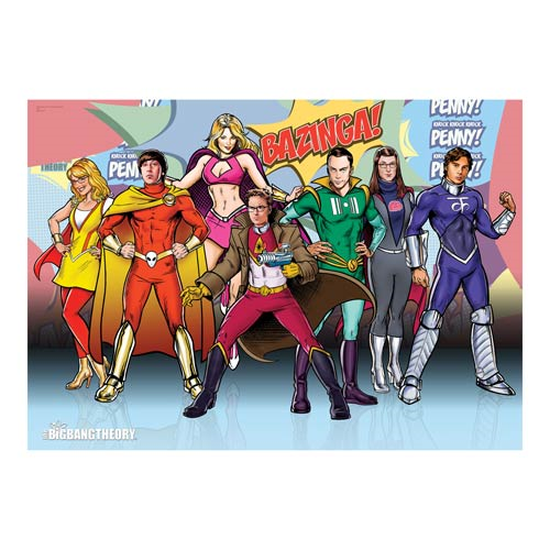 Big Bang Theory Superpowers MightyPrint Wall Art Print