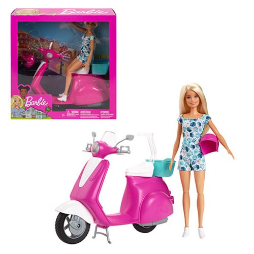 Barbie Doll and Scooter