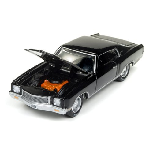 1971 Chevrolet Monte Carlo Gloss Black 1:64 Scale Die-Cast Metal Vehicle