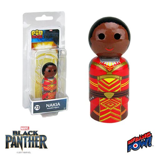 Black Panther Nakia Pin Mate Wooden Figure