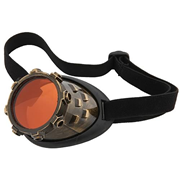 Steampunk CyberSteam Gold/Orange Eye Patch