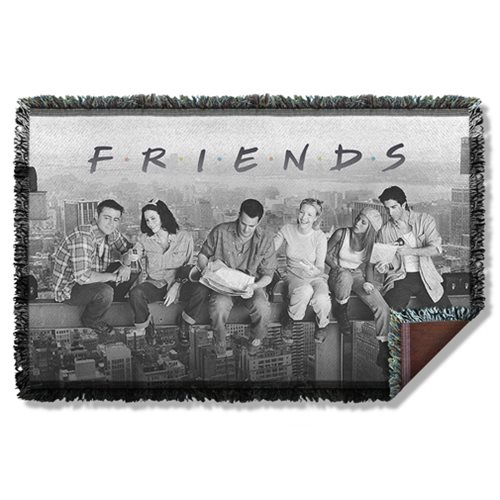 Friends Break Time Woven Tapestry Throw Blanket