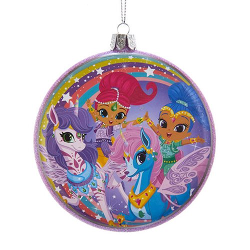 Shimmer and Shine 100 mm Blowmold Disc Ornament