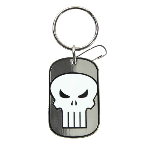 Punisher Tag Marvel Enamel Key Chain