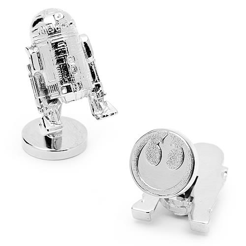 Star Wars R2-D2 3-D Palladium Cufflinks