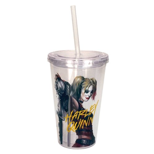 Batman Harley Quinn 16 oz. Travel Cup with Straw