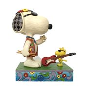 Peanuts Snoopy and Woodstock Concert Goers Concert Critters by Jim Shore Statue
