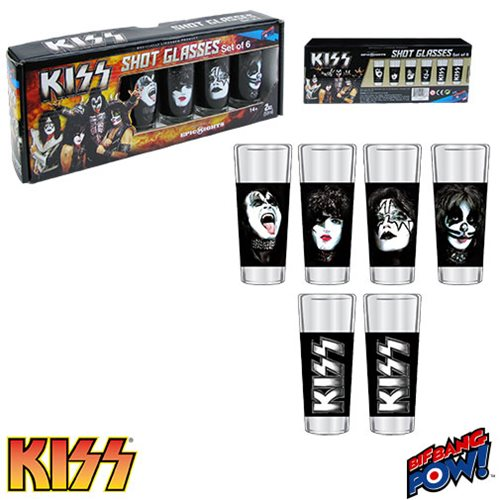 KISS Shot Glasses Set of 6