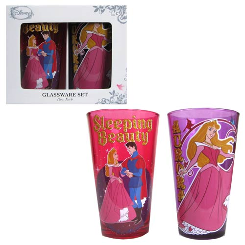 Sleeping Beauty 16 oz. Pint Glass 2-Pack